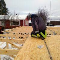 katon rakentaminen maassa